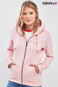 Superdry Pink Lux Zip Hoody