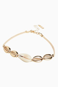 Shell Effect Cord Anklet
