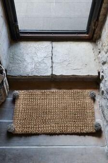 Pom Pom Jute Doormat