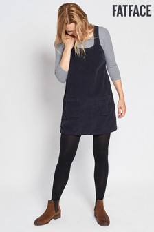 FatFace Navy Dedee Cord Pinafore Dress