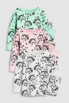 Unicorn Snuggle Pyjamas Three Pack (9mths-8yrs)