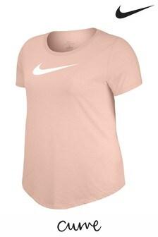 Nike Curve Dry Pink Swoosh Tee