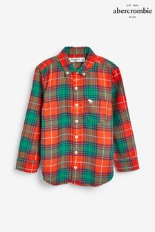 Abercrombie & Fitch Orange Flannel Shirt