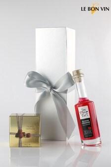 Le Bon Vin Tipsy Blood Orange Gin Liqueur & Truffles Gift Set