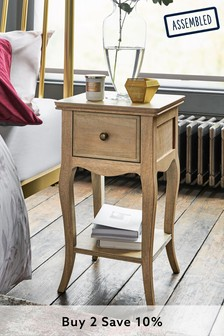 Madeline Slim 1 Drawer Bedside Table