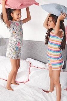 מארז שתי פיג'מות קצרות עם דמויות (גילאי 3 עד 16)