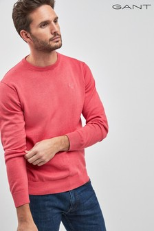 GANT Lightweight Red Cotton Crew Knit