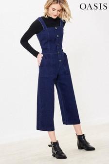 Синий джинсовый комбинезон с пуговицамиOasis
