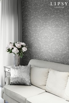 Lipsy Luxe Damask Silver Wallpaper