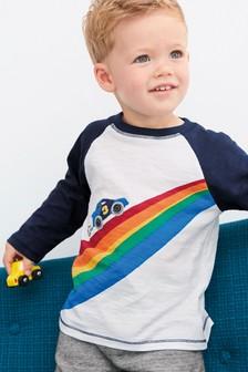 Long Sleeve Appliqué Car T-Shirt (3mths-7yrs)