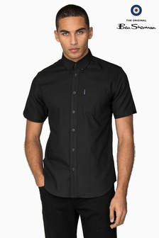 Ben Sherman Black Short Sleeve Oxford Shirt