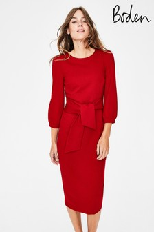 Boden Red Josephine Ponte Dress