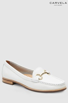 Carvela Comfort White Leather Click Loafer