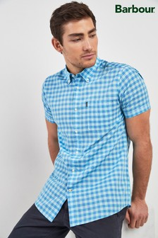 Barbour® Mint Gingham Short Sleeve Shirt