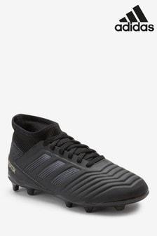 adidas Dark Script Black Predator Cuff Firm Ground Junior & Youth Football Boots