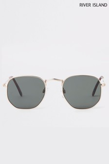River Island Black Lense Gold Frame Sunglasses