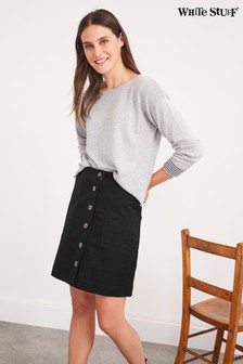 White Stuff Black Canterbury Twill Skirt