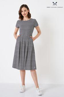 Mint Velvet Grey Rainbow Stripe Sleeve Crew Neck Knit