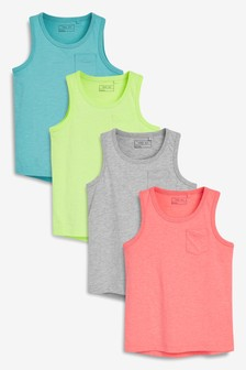 Bright Vests Four Pack (3-16yrs)