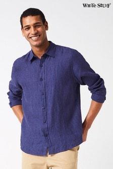White Stuff Blue Lymington Linen Shirt