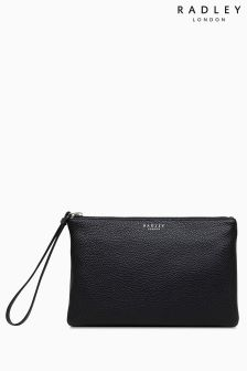 Radley Black Small Clutch Zip Top Bag