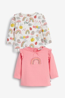 2 Pack Rainbow T-Shirt (0mths-2yrs)