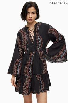 Abercrombie & Fitch White Stripe Tie Shirt