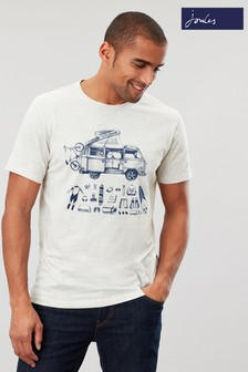 Joules Cream Flynn Graphic Print Crew Neck T-Shirt