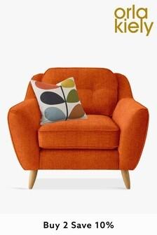 Orla Kiely Laurel Chair with Oak Feet