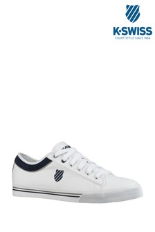 K-Swiss White Bridgeport Trainer