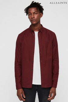 All Saints Red Hungtingdon Shirt