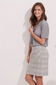 Pastel Check Mini Skirt
