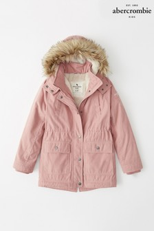 Abercrombie & Fitch Pink Parka Coat