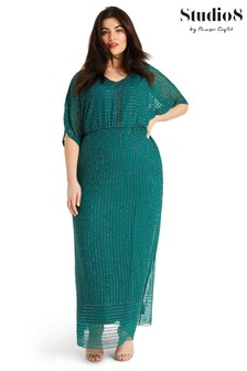 Studio 8 Green Hera Beaded Maxi Dress