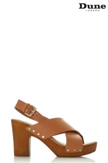 Chaussures compensées Dune London en bois fauve