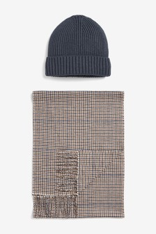 Beanie Hat And Scarf Set
