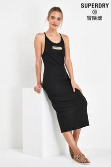 Superdry Black Midi Dress