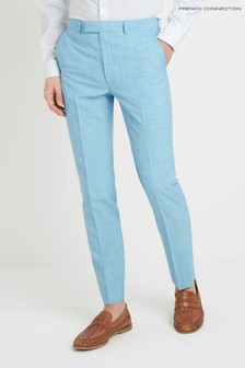 French Connection Slim Fit Light Blue Trouser