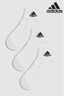 adidas White Ankle Socks Three Pack