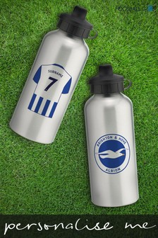 Personalised Brighton & Hove Albion Water Bottle by Personalised Football Gifts