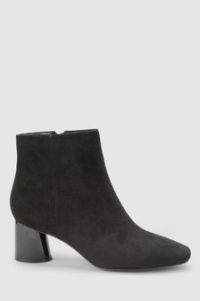 Cylinder Heel Ankle Boots