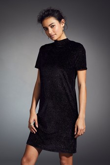 Sparkle Velvet T-Shirt Dress