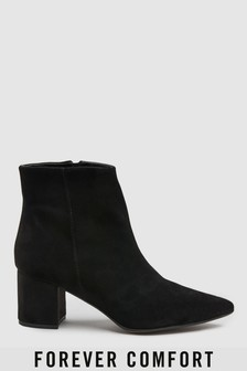 Signature Comfort Leather Heeled Ankle Boots