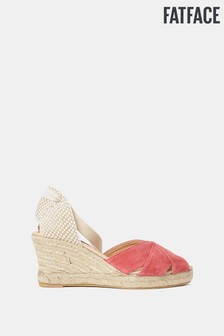 FatFace Pink Mia High Wedge Espadrille