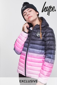 Hype. Black And Pink Fade Jacket