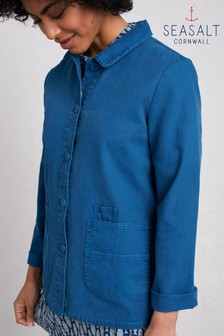 Seasalt Blue Gwithian Jacket Waterfront