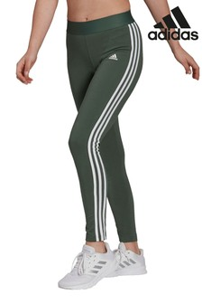 adidas Green 3 Stripe Leggings