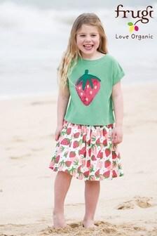 Frugi Organic Strawberry Print Full Skirt