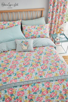 Helena Springfield Vintage Mary Jane Floral Duvet Cover And Pillowcase Set