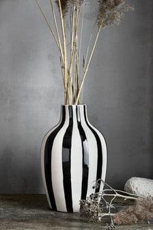 Black Stripe Vase
